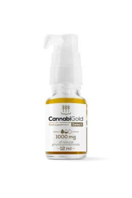 CannabiGold Select 1000 mg (12 ml) széles profilú kannabisz olaj