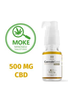 CannabiGold Classic 500 mg teljes profilú fitokannabinoid kivonat (12 ml)