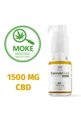 CannabiGold Prémium 1500 mg teljes profilú fitokannabinoid kivonat (12 ml)