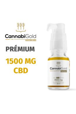 CannabiGold Prémium 1500 mg CBD (12 ml) teljes profilú fitokannabinoid kender kivonat