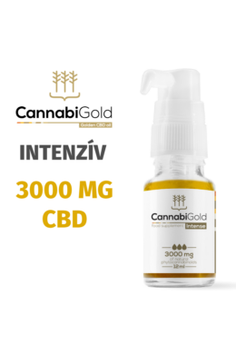 CannabiGold Intense 3000 mg CBD (12 ml) teljes profilú fitokannabinoid kender kivonat