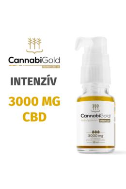 CannabiGold Intense 3000 mg teljes profilú fitokannabinoid kivonat (12 ml)
