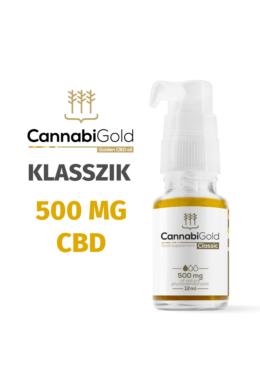 CannabiGold Classic 500 mg CBD (12 ml) teljes profilú fitokannabinoid kender kivonat