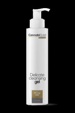 CannabiGold – Gyengéd arclemosó gél – minden bőrtípusra (200 ml // 25 mg CBD)