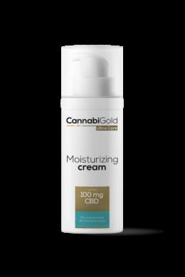 CannabiGold – Hidratáló arckrém – száraz, érzékeny, atópiás bőrre (50 ml // 100 mg CBD)