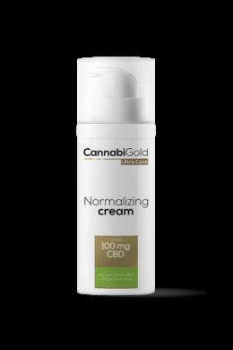 CannabiGold – Normalizing arckrém – zsíros, vegyes, aknéra hajlamos bőrre (50 ml // 100 mg CBD)