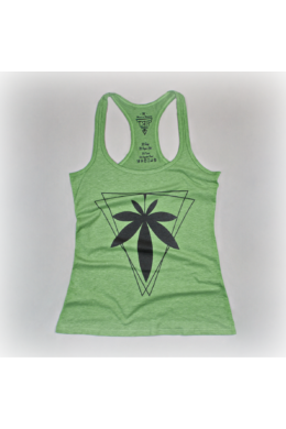 Trip Hemp Fashion mintás zöld női kender top, l méret