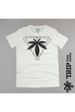 Trip Hemp Fashion mintás Fehér férfi kender póló  s,m,L méret