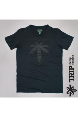 Trip Hemp Fashion mintás Fekete férfi kender póló  s,m,L méret