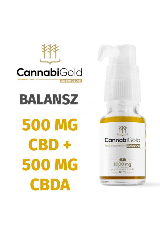 Cannabigold 500 mg CBD + 500 mg CBDA természetes fitokanabinoid
