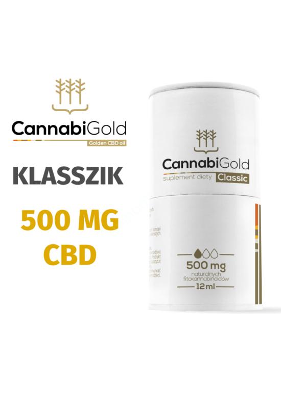 CannabiGold 500 mg (5%, 12ml) CBD olaj organikus kendervirág-kivonat