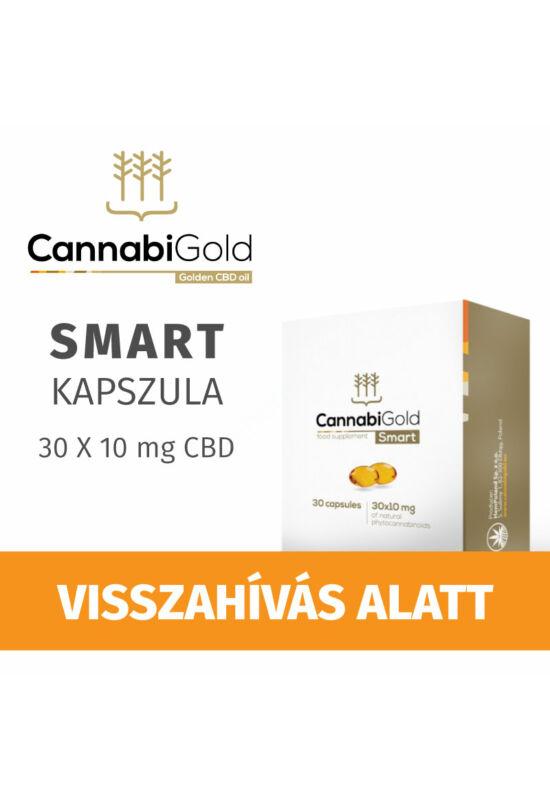 Cannabigold Smart 10 mg CBD természetes fitokanabinoid kapszula