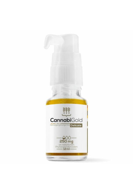 CannabiGold 250 mg (2,5%, 12ml) CBD olaj organikus kendervirág-kivonat