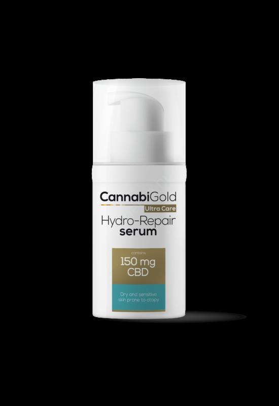 CannabiGold – Hydro-repair szérum –száraz, érzékeny, atópiás bőrre (30 ml // 150 mg CBD)