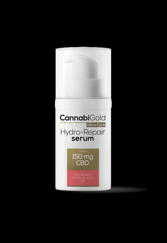 CannabiGold – Hydro-repair szérum – nagyon érzékeny, allergiára hajlamos bőrre ( 30 ml // 150 mg CBD)