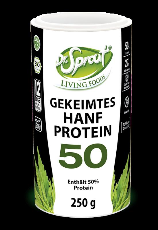 Dr. Sprout csíráztatott kendermag őrlemény 50% proteinnel 250 grammos csomagolása
