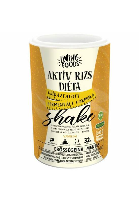 Living Foods – Aktív rizs diéta, vaníliás shake (600 g)